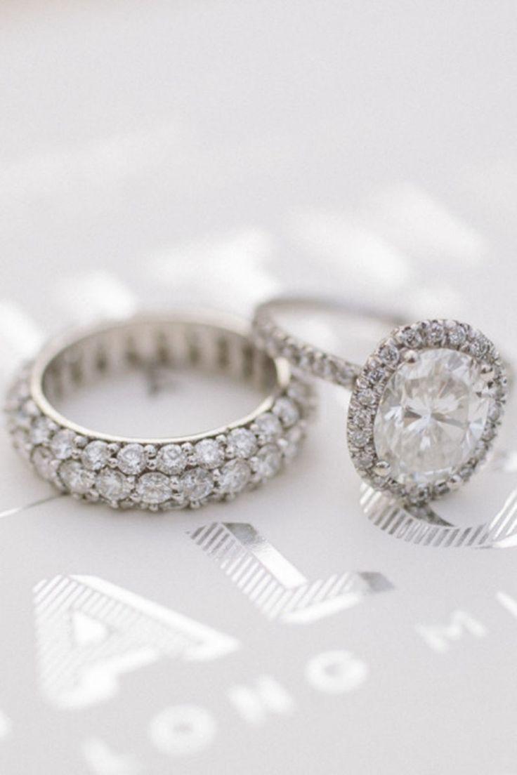 Oval Diamond + French Cut Diamond Halo - HarpersBAZAAR.com