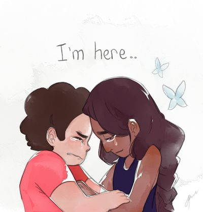 "Ya know' there are two kinds of steven universe fans: one crying when they see this photo. The other say ""I ship it""."