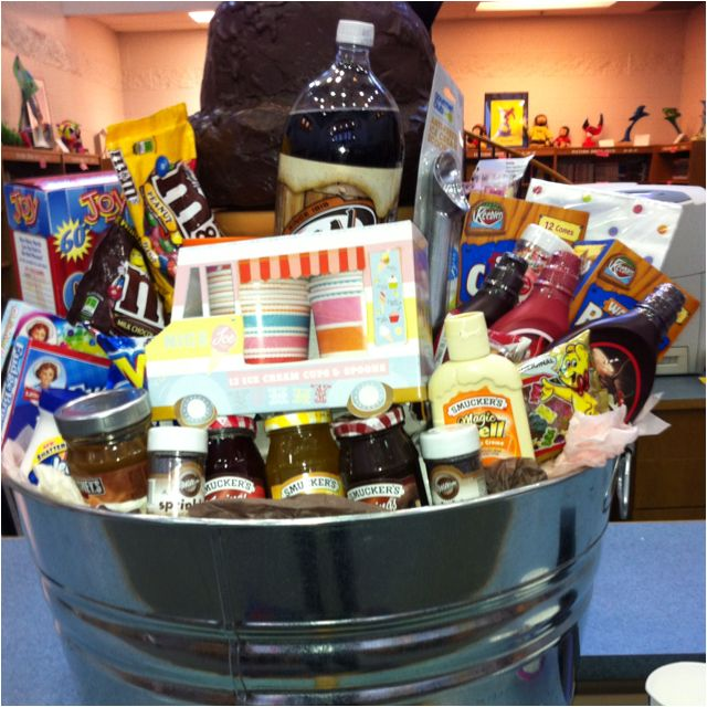 303 best raffle basket ideas hurray images on pinterest silent auction item idea for romania fundraiser spaghetti dinner on nov this is really great i scream u scream ice cream basket great for fundraising negle Choice Image