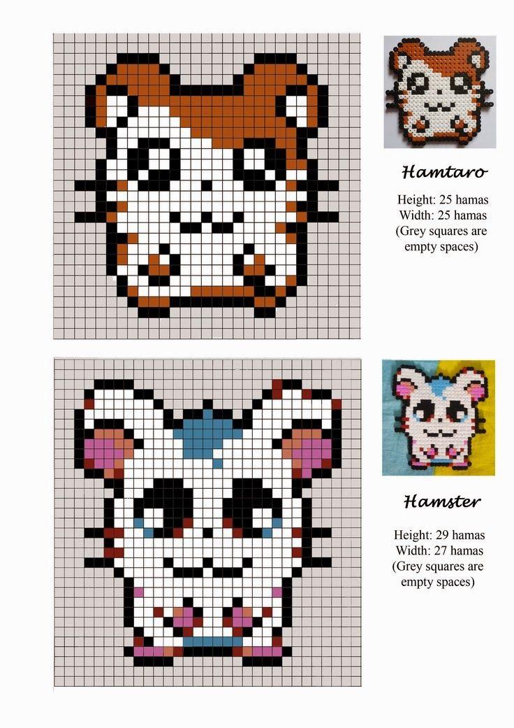 Hamtaro Hama Beads Pattern