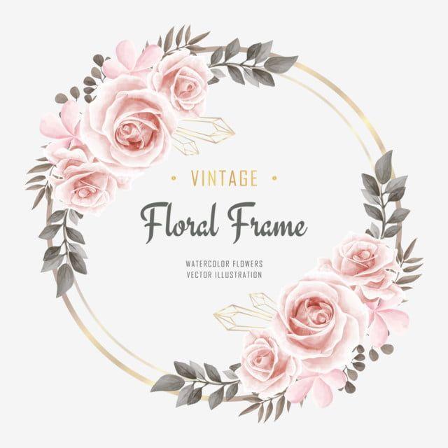 Gambar Jemputan Perkahwinan Dengan Hiasan Bingkai Bunga Bunga Cat Air Bunga Latar Belakang Corak Png Dan Psd Untuk Muat Turun Percuma Bingkai Bunga Bunga Cat Air Bunga
