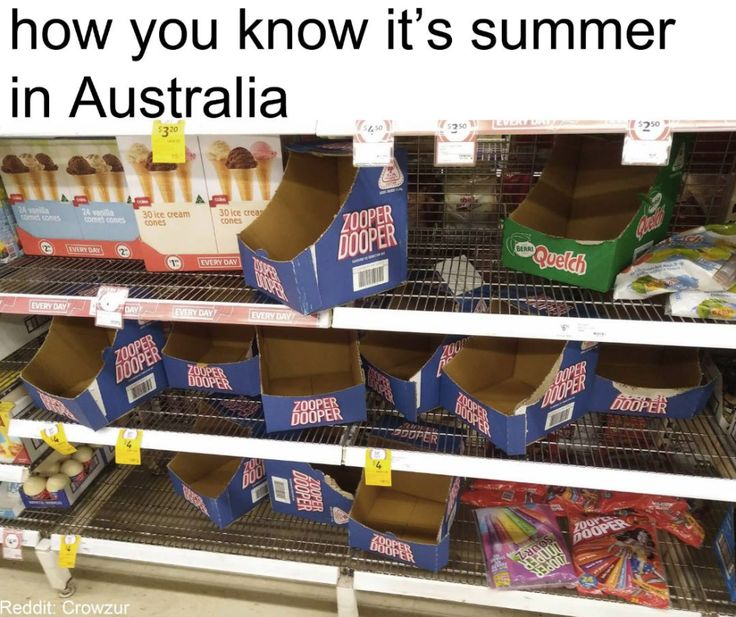 "OH SHIT NO THE ZOOPER DOOPERS. (People who live in Melbourne are just like ""hah it's not summer over here boys!"")"
