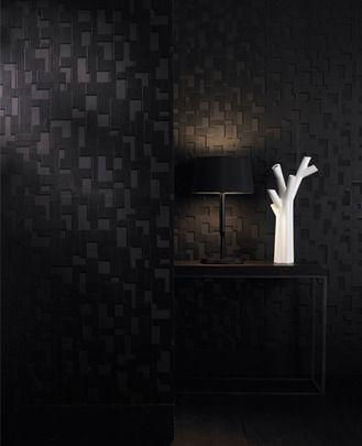 Checker (Nonwoven): Black Wallpaper