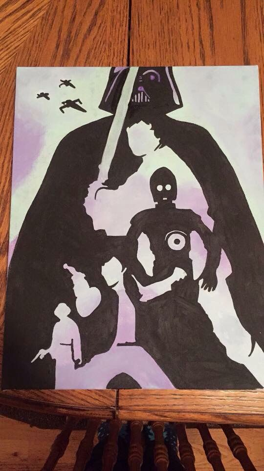 25 best ideas about star wars silhouette on pinterest for Star wars arts and crafts