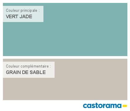 Castorama Nuancier Peinture - Mon harmonie Peinture  VERT JADE satin de DULUX VALENTINE Crême de couleur