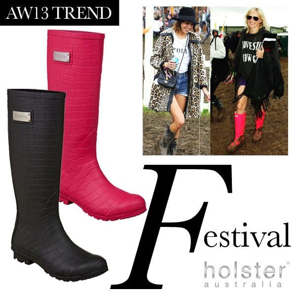 Holster Fashion Wellies Festival Fashion