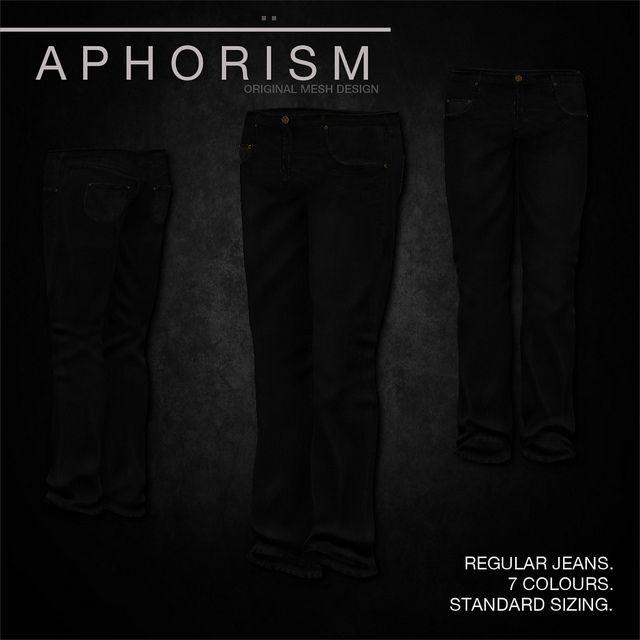 !APHORISM! Regular Jeans Black | Flickr - Photo Sharing!