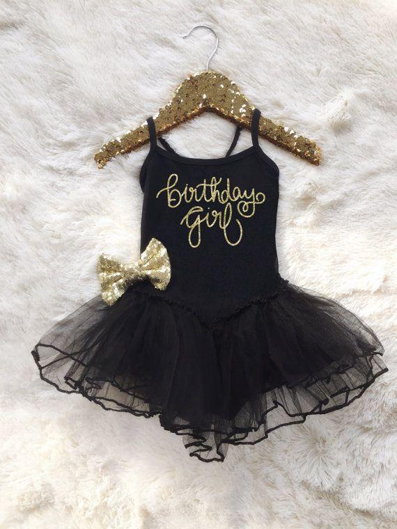 Birthday Girl Tutu Dress Sequin Hair Bow by RusticPeachDesigns
