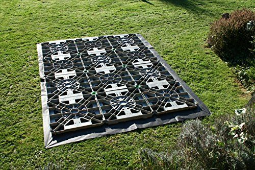 HAWKLOK 16x16ft PLASTIC SHED BASE KIT FOR A GARDEN SHED + MEMBRANE & CLIPS