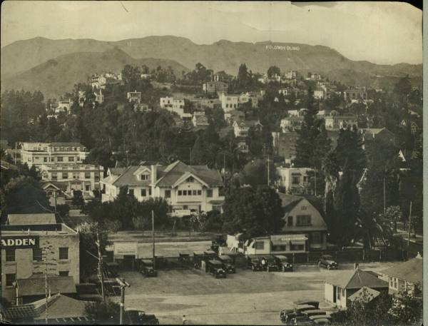 L.A. HOLLYWOOD 1920s.  Unbelievable growth.  Where did everyone come from? My grandparents lived close to here on a small Ranch.  They would never believe the LA of  Today.