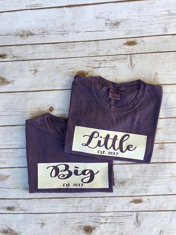 Big Little Comfort Color Shirt Big Little Sorority Big