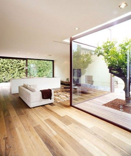 Single-family residence with a small inner courtyard