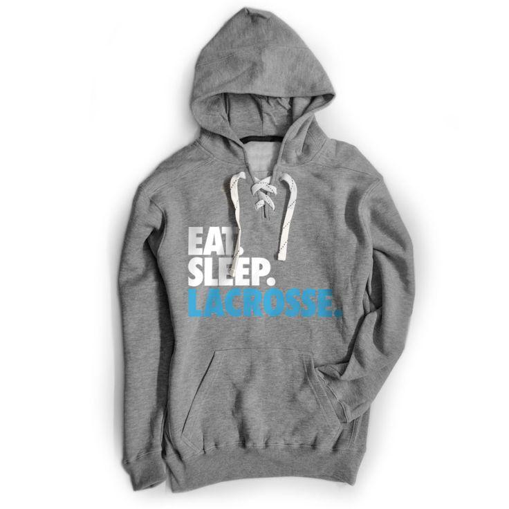 Lacrosse Sport Lace Sweatshirt - Eat. Sleep. Lacrosse.   ChalkTalkSPORTS