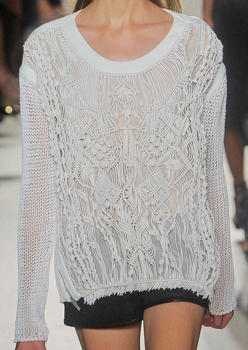 Macrame in Fashion. Barbara Bui S/S 12