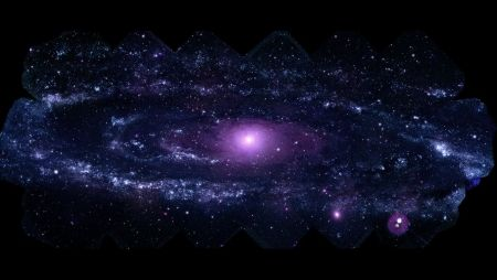 M31 - Andromeda in UV - M31, amazing, Andromeda, universe, Goddard, Messier Objects, Composite, UV, purple, University of Maryland, NASA, galaxy, astronomy