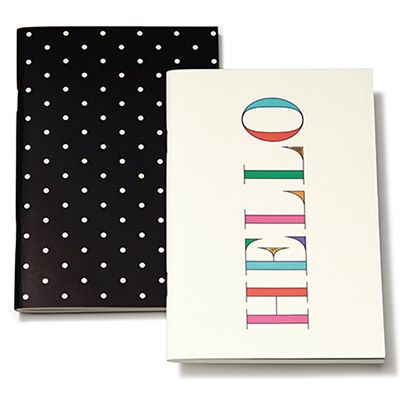 Colorful Notebook Set By Kate Spade New York. Colorful Hello Notebook And  Black And White Polka Dot Notebook.