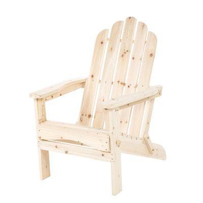 Shine Company Inc. Marina Folding Adirondack Chair Finish: Natural