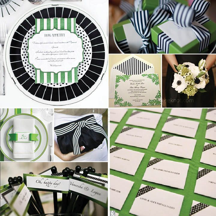 navy blue and kelly green wedding invitations%0A kelly green   black   white  sub Black for Navy Blue