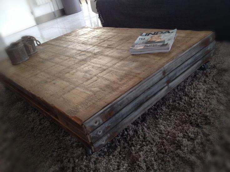 Steenschot salontafel salon tafel robuust pinterest for Tafel van steenschotten