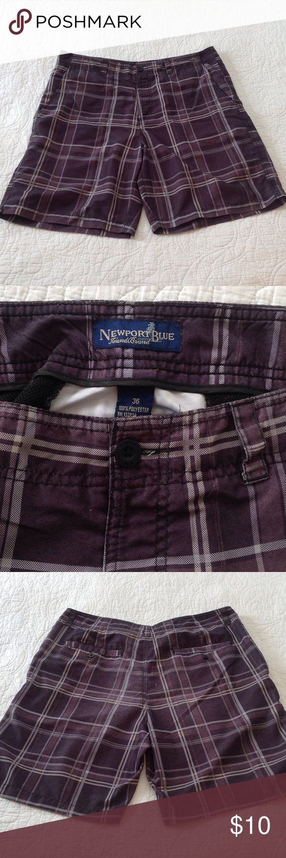 Men's Plaid Gray Shorts Negotiable. Tiny minor flaw on back (as pictured). Newport Blue Shorts Flat Front