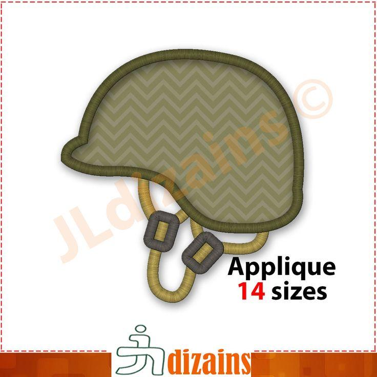 Army Helmet Applique Design. Army helmet embroidery design. Soldier helmet embroidery. Soldier helmet applique. Machine embroidery design by JLdizains on Etsy