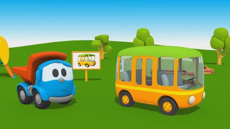 Cartoni Animati per Bambini - Leo Junior: come si fa un autobus?
