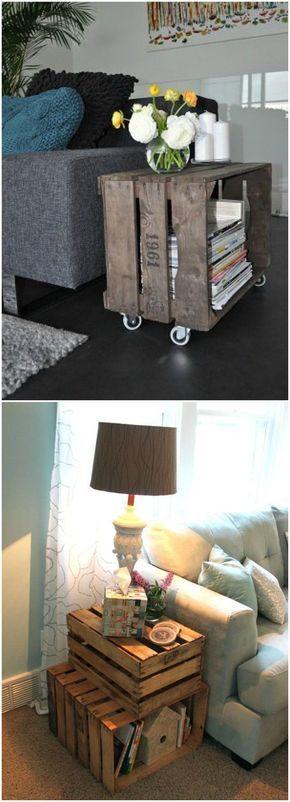 DIY mesa auxiliar. Visto en www.ecodecomobiliario.com