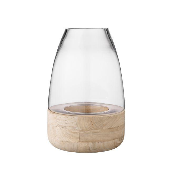 Bloomingville windlicht glas-hout