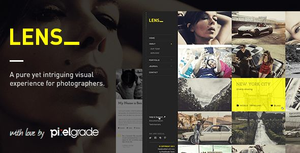 LENS is a surprising premium WordPress theme aimed at photographers in need for a solution that focuses on what matters most to them: