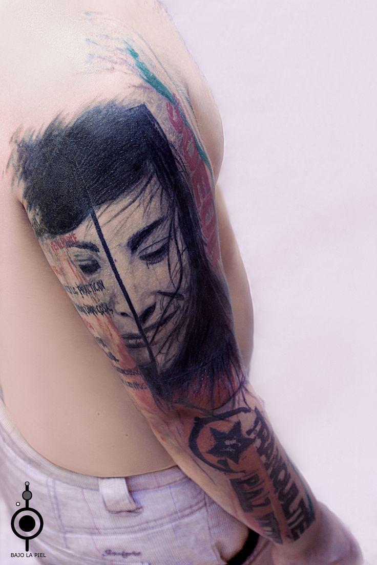 Bajo La Piel Tattoo Ponferrada #tattoo #tatuaje #realismo #diseñográfico #tattoographicdesign #trashpolka #Ponferrada