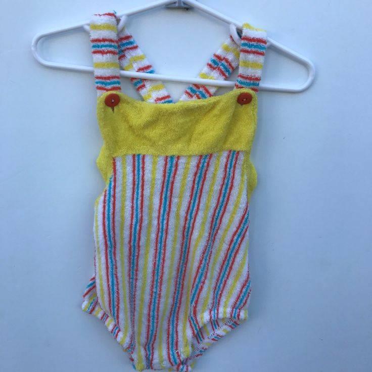 Super rad terry cloth sun suit no available on Etsy! #vintage #kids #terrycloth