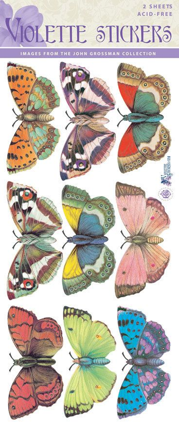 Beautiful Vintage Style Large Butterfly Stickers for by tcastle1
