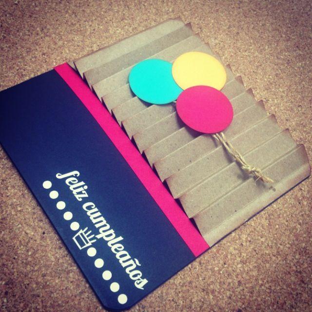 Tarjeta cumpleaños // happy birthday Card // Scrapbbok // design