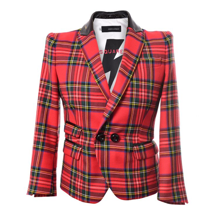 Dsquared Plaid BLazer Jacket, worn once. Price: 300 Euro.