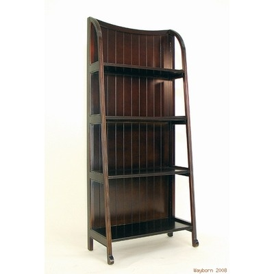 great wood etagere with folding shelves product etagere material wood color brown features. Black Bedroom Furniture Sets. Home Design Ideas
