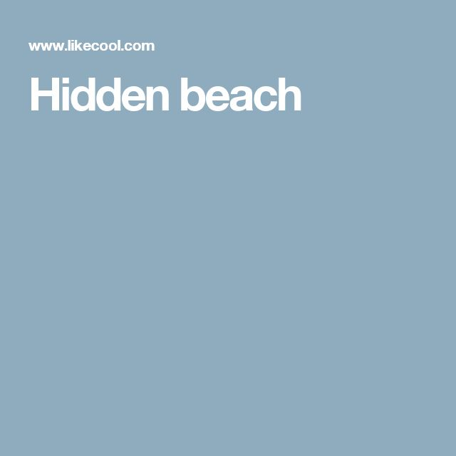 Hidden beach