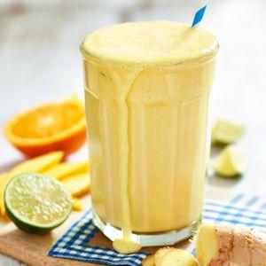 Mango-sinaasappelsmoothie met vanillevla