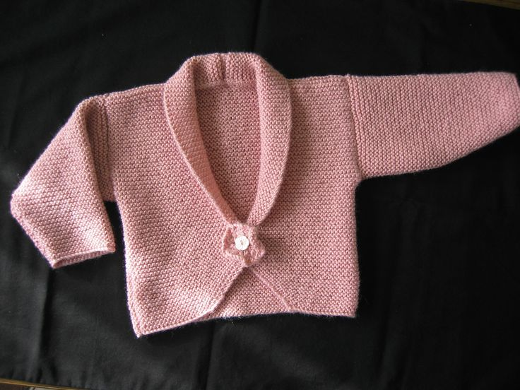 Knitting Pattern for Peony Baby Cardigan - Very quick and very easy to knit designed by Audrey Wilson. Sizes 0-3months. 3-6 months. 6-12 months. Pictured project by Aloysius