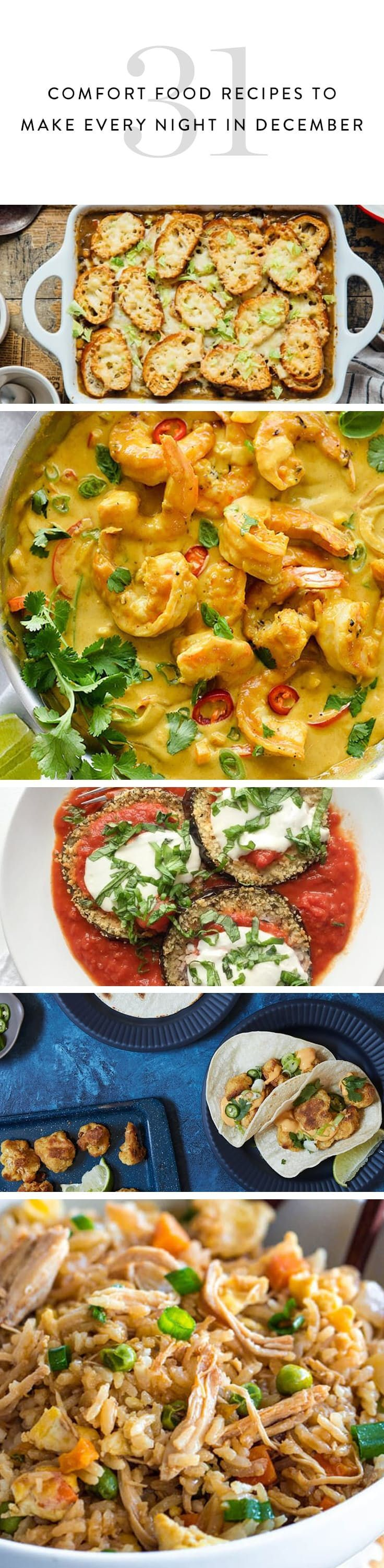 31 Comfort Food Recipes to Make Every Night in December via @PureWow #dinner #lbloggers #bloggers