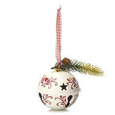 Nordic Collection White Hanging Bell Bauble #DunelmPinterWonderland #Christmas #Comp #Win #Dunelm