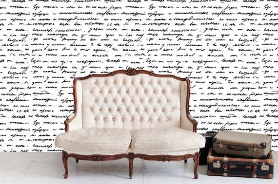 Removable wallpaper love letter peel stick self for Self adhesive letters for walls