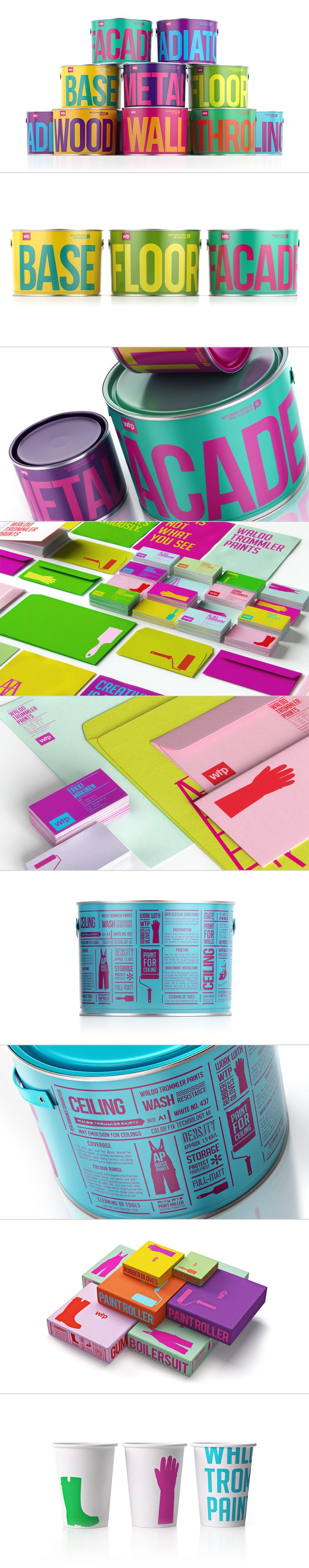 Waldo Trommler Paints, Фирменный стиль © Александр Андреев