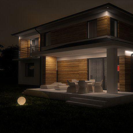 House facade design, POLAND - archi group. Elewacja domu jednorodzinnego w Nowym Chechle.