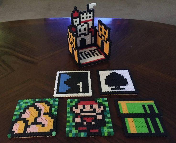 Super Mario World 3 (NES)  Coaster Set perler beads by jnjfranklin