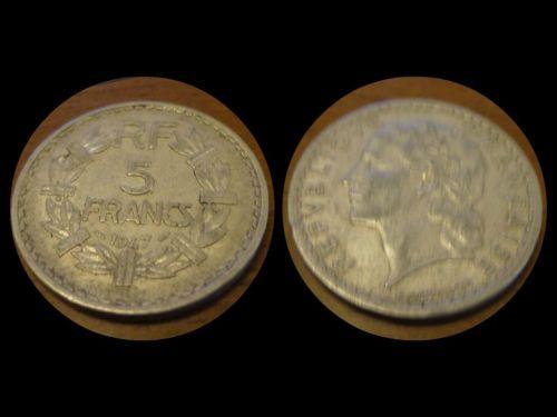 Moneta 5 Franchi Anno 1947 Francia - Coin 5 Francs 1947 France - 5 Francs 1947