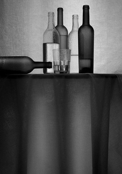 Nature morte aux bouteilles (Still Life with Bottles) - Photography by Franck Follet.