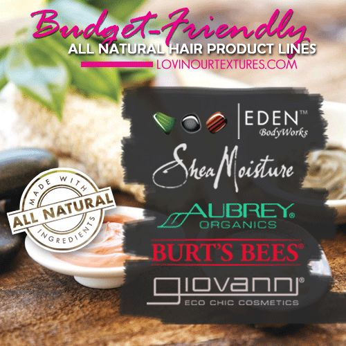5 Budget-Friendly All Natural Hair Product Lines - Lovin Our Textures