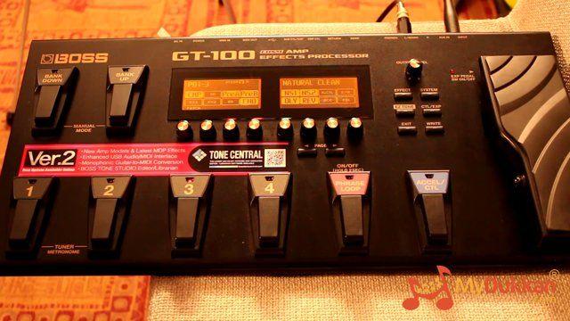 Boss GT-100 - Gitar Prosesör İncelemesi (Hızlı Video)