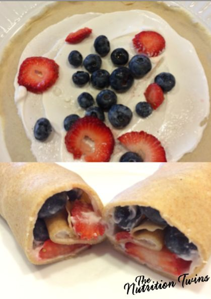 "Fruit and ""Cream"" Crepes 
