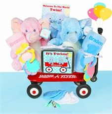 Radio Flyer Welcome Wagon Twins Baby Gift Basket